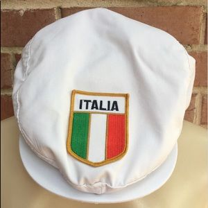 Vintage Yupoong Flat Cap Italia Flag Patch